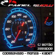 Monza Kadett Ipanema Cod553v220 Mostrador Tuning Translucido p/ Personalização de Painel - Show !
