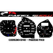 Kit Translúcido p/ Painel - Cod536v240 - Mazda Mx3