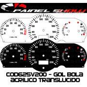 Kit Translúcido p/ Painel - Cod625v200 - Gol Parati Saveiro G2 com Contagiros Vdo Bola