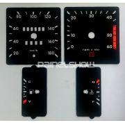 Kit Translúcido p/ Painel - Cod685v180 - Opala 1985 a 1987