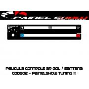 Acetato de Controle de Ar Ventilação Pelicula - Gol Parati Saveiro Santana Voyage - Cod902 Translucido Painelshow