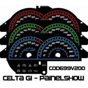 Celta G1 Antigo com Contagiros - Cod699V200 - Acetato Translucido p/ Personalização de Painel - Show !