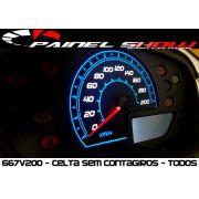 Celta G1 Antigo sem Contagiros - Cod667V200 - Acetato Translucido p/ Personalização de Painel - Show !