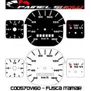 Kit Translúcido p/ Painel - Cod570v160 - Fusca 1980 em diante