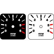 Contagiros Fusca modelo 6000 RPM - Placa do Mostrador Translucido p/ Cod570v160