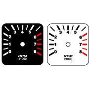 Contagiros Fusca modelo 8000 RPM - Placa do Mostrador Translucido p/ Cod570v160