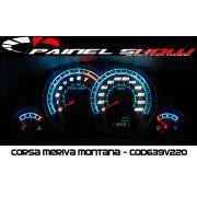 Corsa Hatch Joy Maxx Premium VHC SS 220km/h Cod639v220 Mostrador Tuning Acetato Translucido p/ Personalização de Painel - Show ! Iceblue
