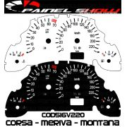 Kit Translúcido p/ Painel - Cod516v220 - Corsa - Meriva - Montana