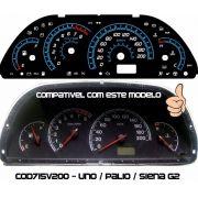 Palio Uno Siena Cod715v200 Translucido P/ Painel + Led Show