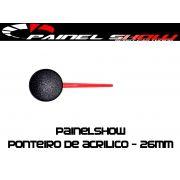 Ponteiro Acrilico 26mm Personalizavel