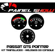 Placas Translúcida p/ Manômetro do Console Passat 52mm - Voltímetro Relógio e Pressão de Óleo
