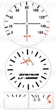 Adesivo p/ Painel - Cod07v160 - Brasilia 80 a 82  - PAINEL SHOW TUNING - Personalização de Painéis de Carros e Motos