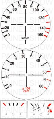 Adesivo p/ Painel - Cod09v160 - Brasilia 80 a 82  - PAINEL SHOW TUNING - Personalização de Painéis de Carros e Motos