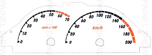 Adesivo p/ Painel - Cod116v200 - Celta até 2006  - PAINEL SHOW TUNING - Personalização de Painéis de Carros e Motos