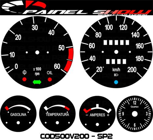 Kit Translucido p/ Painel - Cod500v200 - SP2  - PAINEL SHOW TUNING - Personalização de Painéis de Carros e Motos