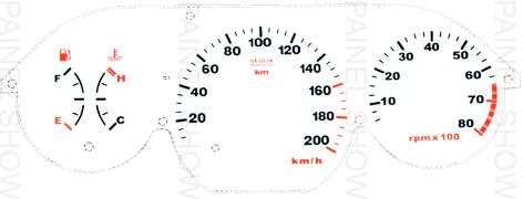 Adesivo p/ Painel - Cod102v200 - Palio / Siena / Strada G1  - PAINEL SHOW TUNING - Personalização de Painéis de Carros e Motos