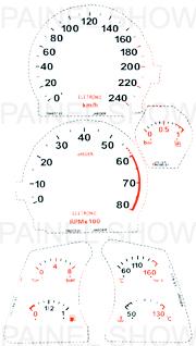 Adesivo p/ Painel - Cod104v240 - Tempra Turbo  - PAINEL SHOW TUNING - Personalização de Painéis de Carros e Motos