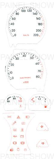 X Adesivo p/ Painel - Cod105v220 - Tempra  - PAINEL SHOW TUNING - Personalização de Painéis de Carros e Motos
