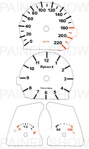 Adesivo p/ Painel - Cod109v220 - Tempra  - PAINEL SHOW TUNING - Personalização de Painéis de Carros e Motos