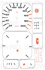X Adesivo p/ Painel - Cod15v200 - Gol / Parati  - PAINEL SHOW TUNING - Personalização de Painéis de Carros e Motos