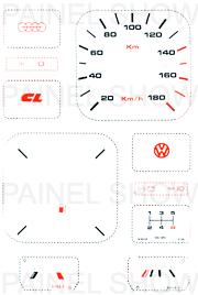 Adesivo p/ Painel - Cod16v180 - Gol 1000  - PAINEL SHOW TUNING - Personalização de Painéis de Carros e Motos