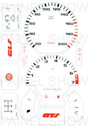 Adesivo p/ Painel - Cod19v200 - Gol / Parati  - PAINEL SHOW TUNING - Personalização de Painéis de Carros e Motos