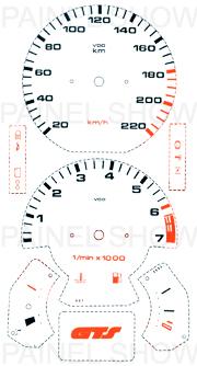 X Adesivo p/ Painel - Cod20v220 - Gol GTS / Parati  - PAINEL SHOW TUNING - Personalização de Painéis de Carros e Motos