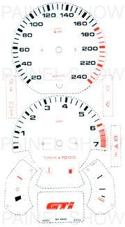 Adesivo p/ Painel - Cod21v240 - Gol GTI  - PAINEL SHOW TUNING - Personalização de Painéis de Carros e Motos