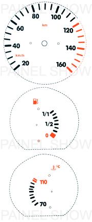 Adesivo p/ Painel - Cod22v160 - Gol / Parati  - PAINEL SHOW TUNING - Personalização de Painéis de Carros e Motos