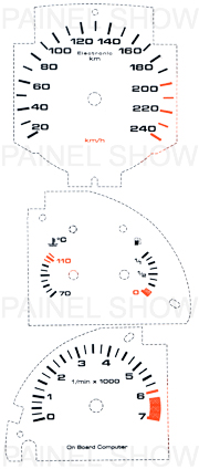 X Adesivo p/ Painel - Cod25v240 - Gol GTI  - PAINEL SHOW TUNING - Personalização de Painéis de Carros e Motos