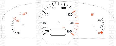 X Adesivo p/ Painel - Cod26v160 - Gol / Parati  - PAINEL SHOW TUNING - Personalização de Painéis de Carros e Motos