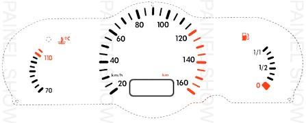 Adesivo p/ Painel - Cod29v160 - Gol / Parati  - PAINEL SHOW TUNING - Personalização de Painéis de Carros e Motos