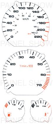 Adesivo p/ Painel - Cod33v220 - Golf / Polo  - PAINEL SHOW TUNING - Personalização de Painéis de Carros e Motos