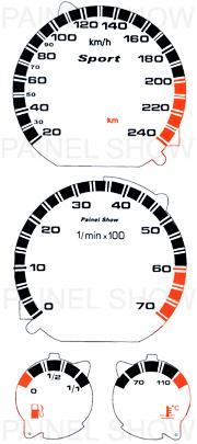 X Adesivo p/ Painel - Cod34v240 - Golf / Polo  - PAINEL SHOW TUNING - Personalização de Painéis de Carros e Motos