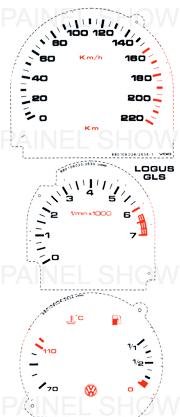 Adesivo p/ Painel - Cod36v0a220 - Logus / Pointer  - PAINEL SHOW TUNING - Personalização de Painéis de Carros e Motos