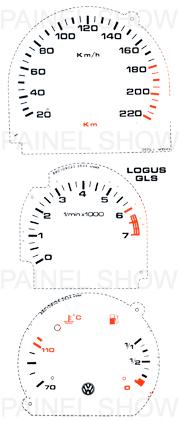 Adesivo p/ Painel - Cod36v20a220 - Logus / Pointer  - PAINEL SHOW TUNING - Personalização de Painéis de Carros e Motos