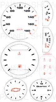 Adesivo p/ Painel - Cod44v180 - Chevette  - PAINEL SHOW TUNING - Personalização de Painéis de Carros e Motos