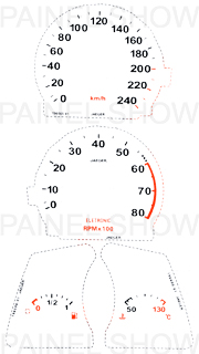 X Kit Neon p/ Painel - Cod108v240 - Tempra  - PAINEL SHOW TUNING - Personalização de Painéis de Carros e Motos