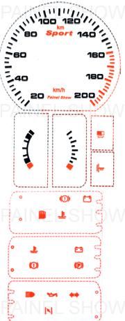 Adesivo p/ Painel - Cod49v200 - Monza / Kadett  - PAINEL SHOW TUNING - Personalização de Painéis de Carros e Motos