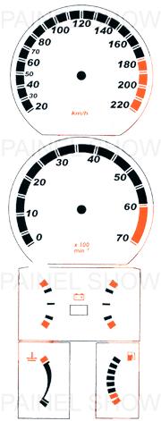 Adesivo p/ painel - Cod51v220 - Kadett  - PAINEL SHOW TUNING - Personalização de Painéis de Carros e Motos