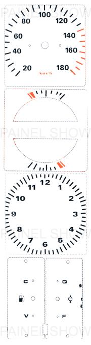 Adesivo p/ Painel - Cod53v180 - Opala / Caravan  - PAINEL SHOW TUNING - Personalização de Painéis de Carros e Motos