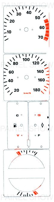 Adesivo p/ Painel - Cod54v180 - Opala / Caravan  - PAINEL SHOW TUNING - Personalização de Painéis de Carros e Motos