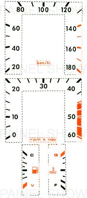 Adesivo p/ Painel - cod55v180 - Opala / Caravan  - PAINEL SHOW TUNING - Personalização de Painéis de Carros e Motos