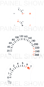 X Adesivo p/ Painel - Cod60v260 - Omega / Suprema  - PAINEL SHOW TUNING - Personalização de Painéis de Carros e Motos
