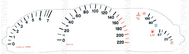 Adesivo p/ Painel - Cod64v220 - Vectra  - PAINEL SHOW TUNING - Personalização de Painéis de Carros e Motos