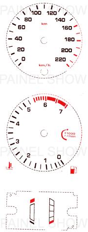 Adesivo p/ Painel - Cod66v220 - Escort  - PAINEL SHOW TUNING - Personalização de Painéis de Carros e Motos