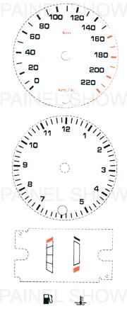 Adesivo p/ Painel - Cod72v220 - Escort  - PAINEL SHOW TUNING - Personalização de Painéis de Carros e Motos
