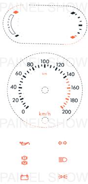 Adesivo p/ Painel - Cod73v200v1 - Escort / Verona  - PAINEL SHOW TUNING - Personalização de Painéis de Carros e Motos