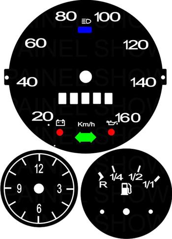 Kit Translúcido p/ Painel - Cod574v160 - Variant ou TL  - PAINEL SHOW TUNING - Personalização de Painéis de Carros e Motos