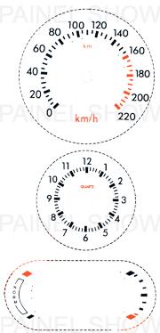 Adesivo p/ Painel - Cod74v220 - Escort / Verona  - PAINEL SHOW TUNING - Personalização de Painéis de Carros e Motos
